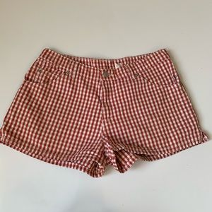 LEVI'S Vintage RARE Red Gingham High Rise Shorts